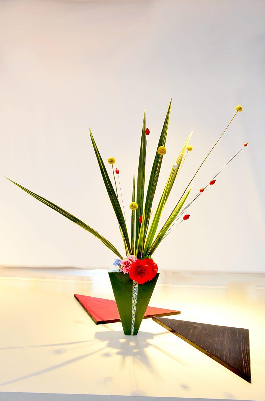 Ikebana, Ikenobo-Schule, freies Arrangement, Jiyuka