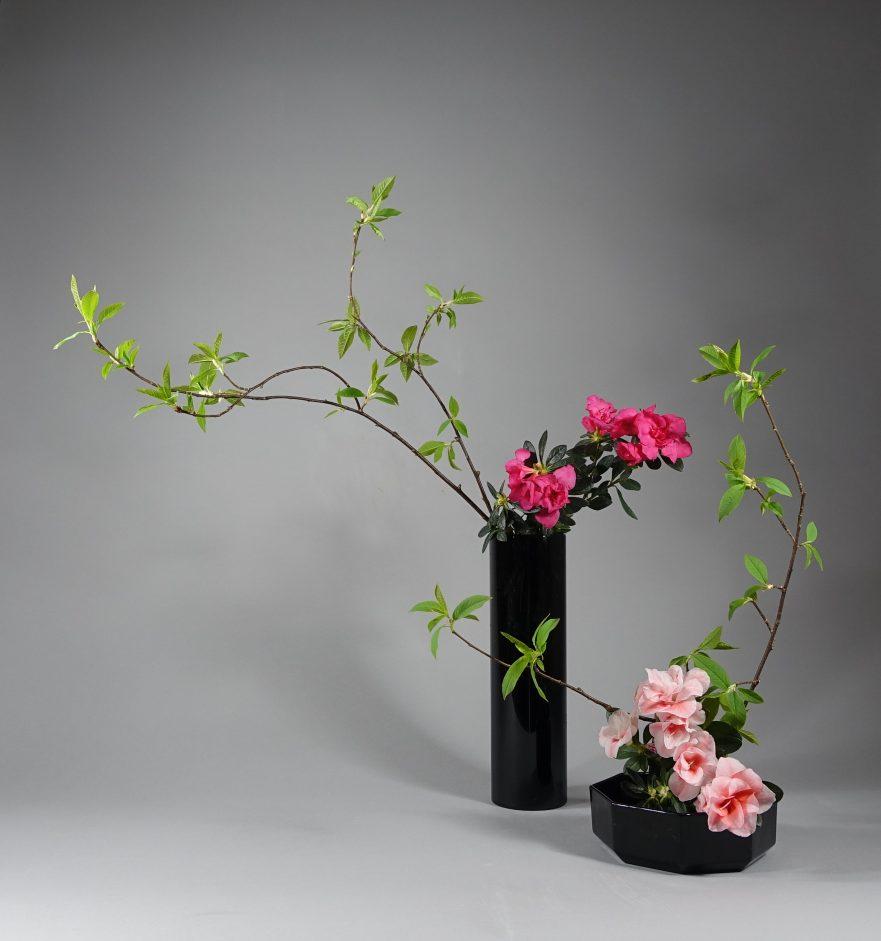 Ikebana, Sogetsu, Kombination von Moribana und Nageire