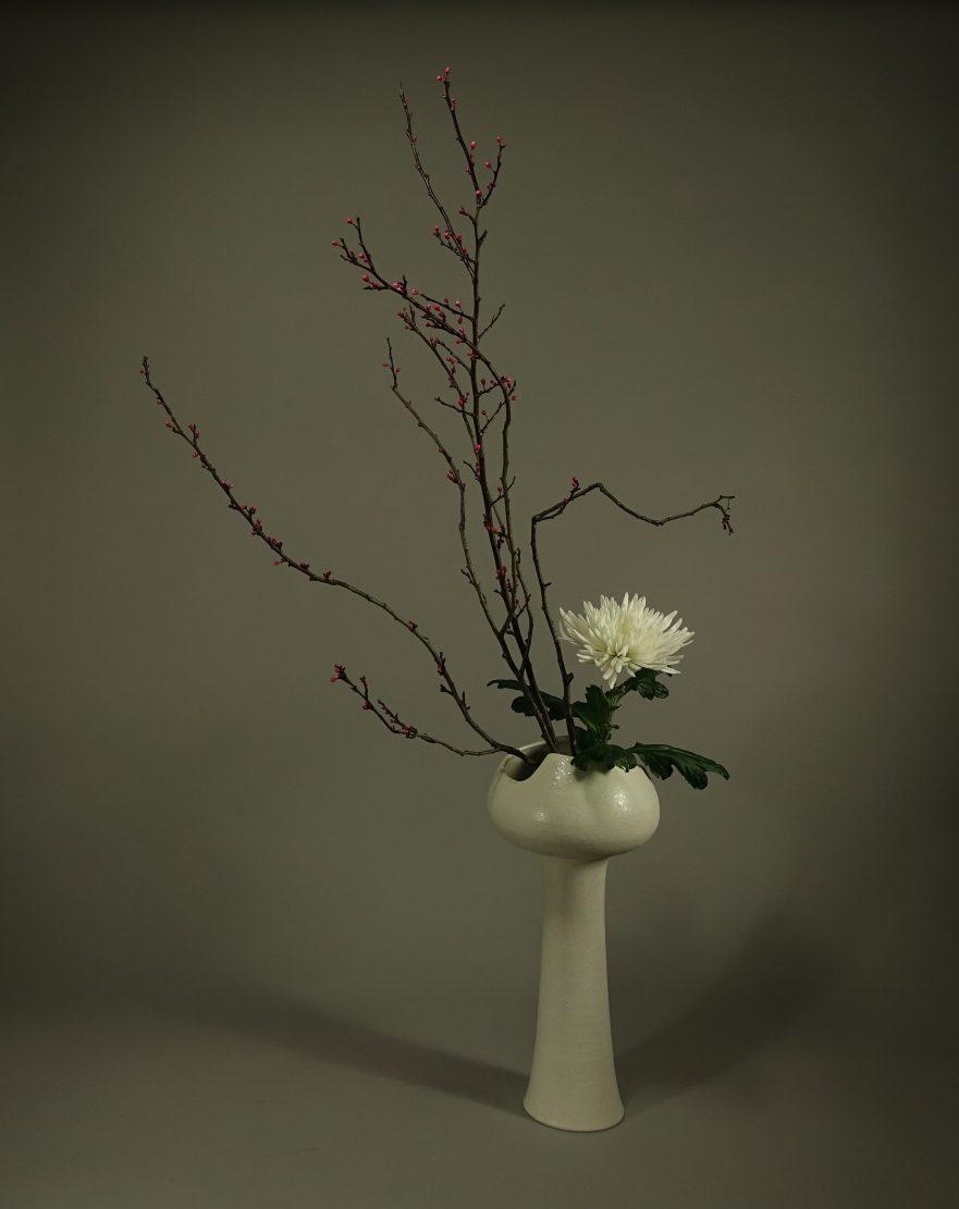 Ikebana, Sogetsu, Moribana (von Kumiko Tatai)