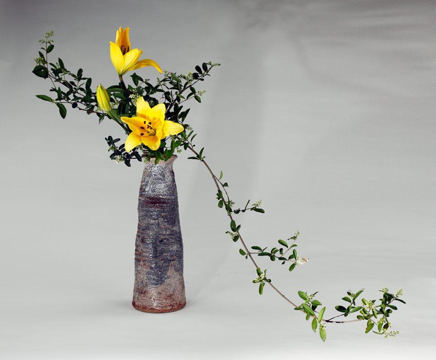 Ikebana, Sogetsu, hängendes Nageire