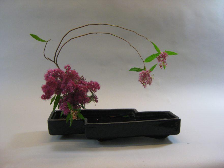 Ikebana, Sogetsu, freies Arrangement (von Shuko Kurose-Ellner)