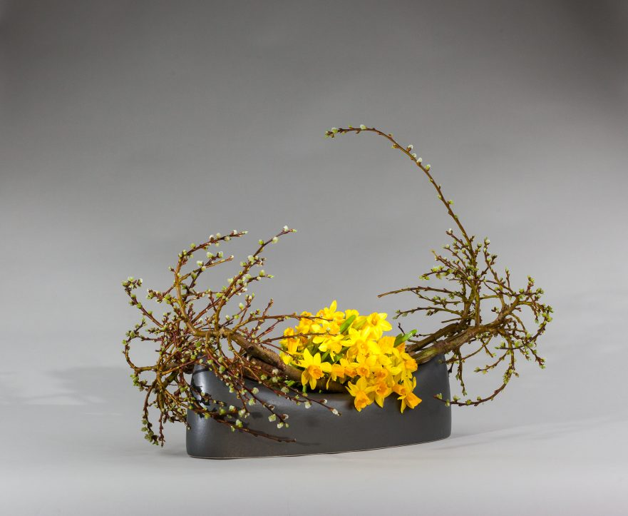 Ikebana, Sogetsu, freies Arrangement