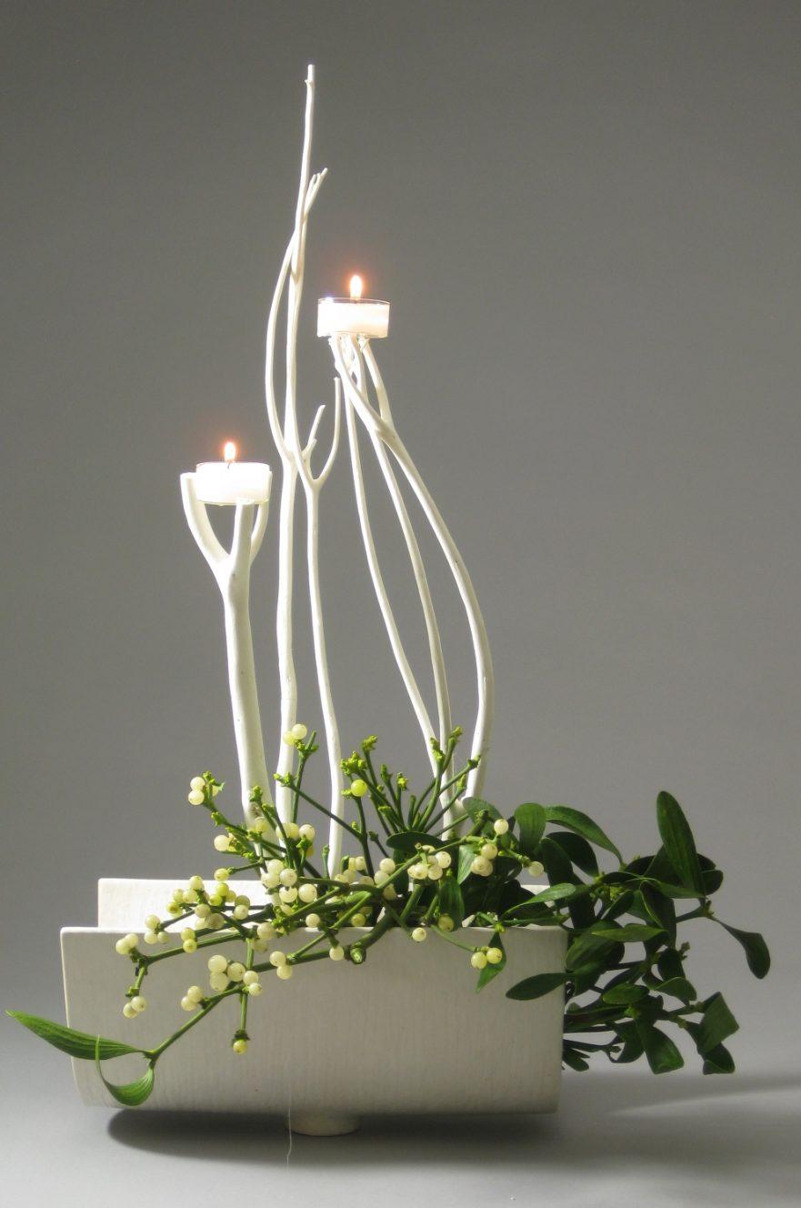 Ikebana, Sogetsu, Ikebana zu deutschen Festen, Weihnachten (von Ayako Graefe)